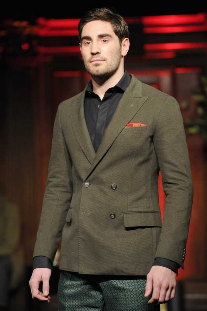 Frank models for RakeStyle in London Collections - Frank Buglioni